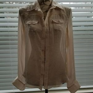 Sheer Silky Blouse The Shirt by Joe's